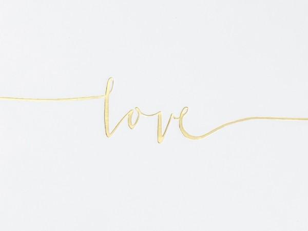 """Gästebuch """"love"""" weiß/gold"""