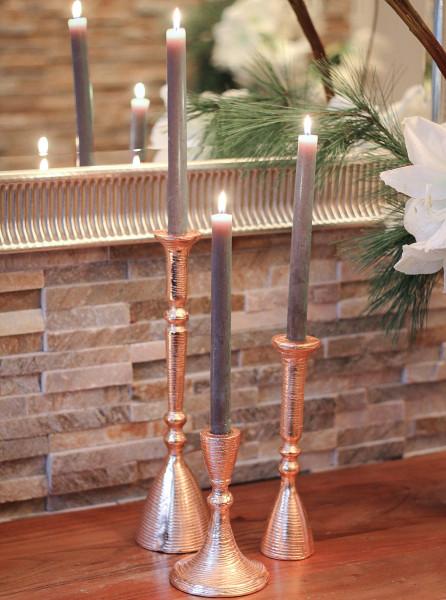 Kerzenhalter LUMIÉRE 3er-Set roségold