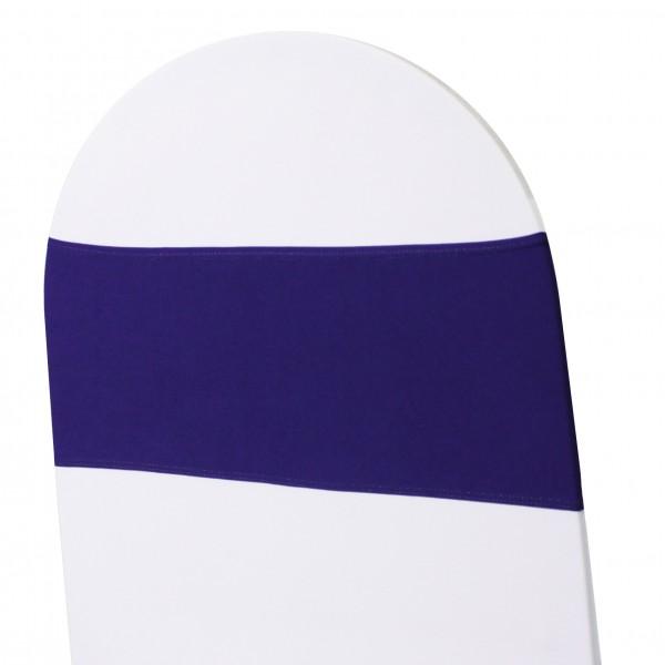 5 x STRETCH Stuhlbänder lila violett