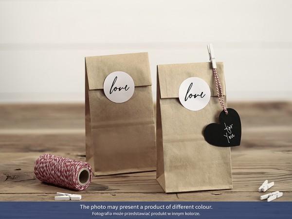 Geschenktüten mit LOVE-Aufkleber - 6 Stück