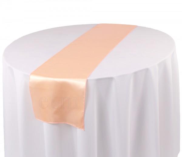 Satin Tischläufer blush puder