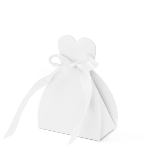 Gastgeschenkboxen Braut weiss für Hochzeit - 10 Stück