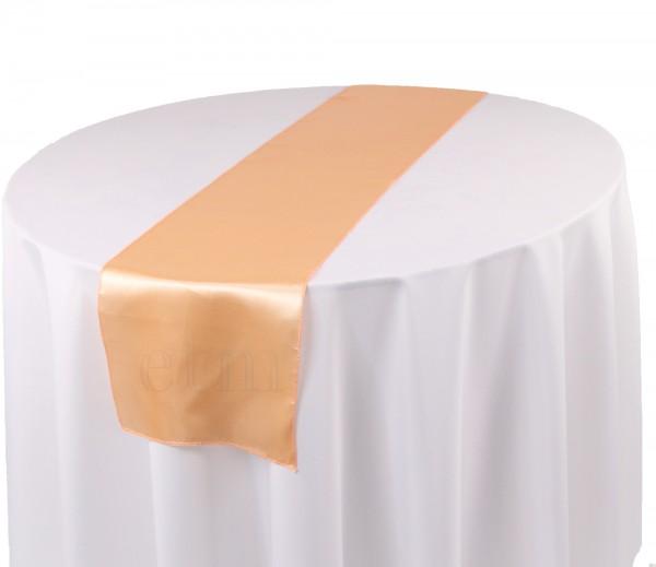Satin Tischläufer apricot