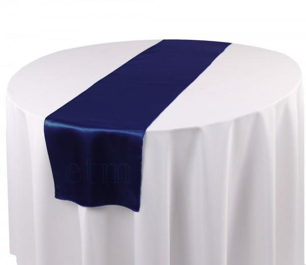 Satin Tischläufer marineblau