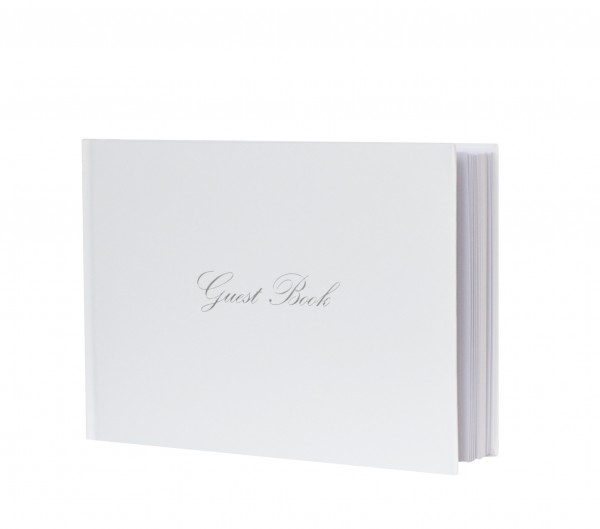 Gästebuch Classic weiß-silber