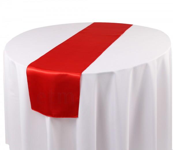 Satin Tischläufer rot