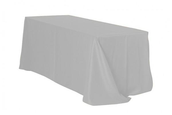 Tischdecke ECKIG 2,40 x 3,40m bodenlang grau