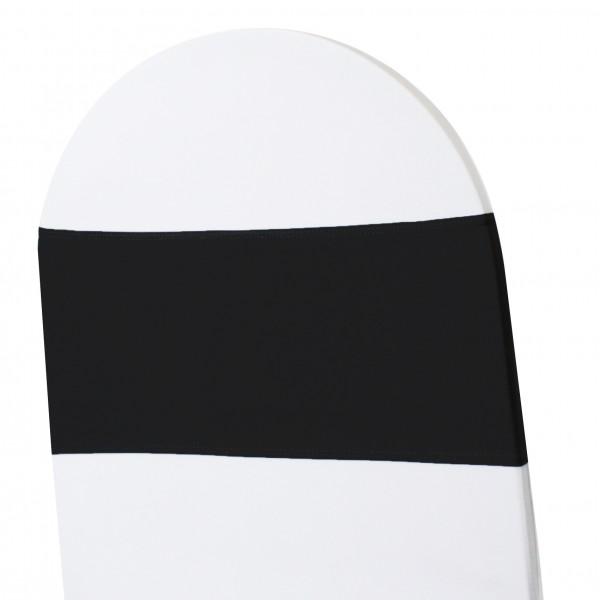 5 x STRETCH Stuhlbänder schwarz