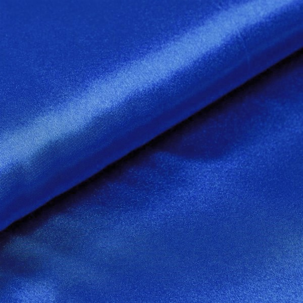 Satin Meterware royalblau