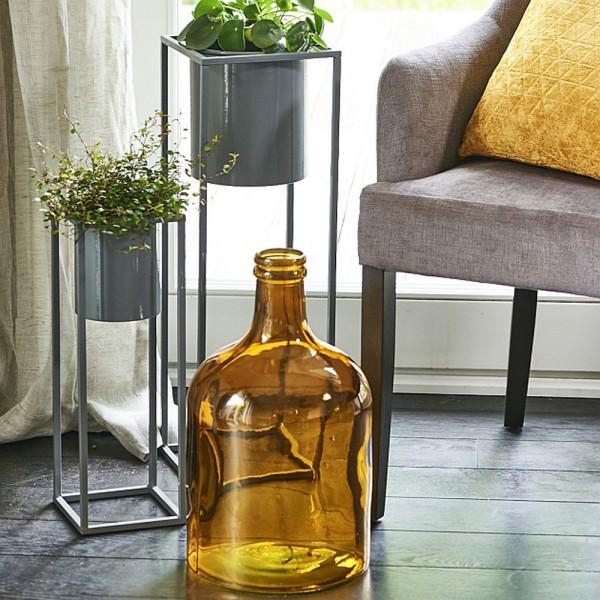 Vase COLJAR aus recyceltem Glas H:43cm, dunkelgelb