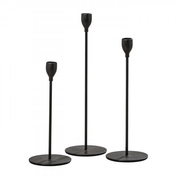 Kerzenhalter-Set MALTE 3-tlg., schwarz