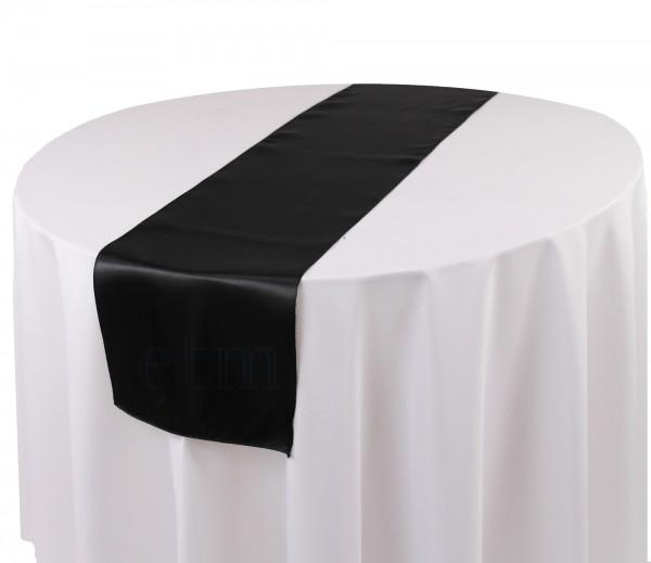 Satin Tischläufer schwarz