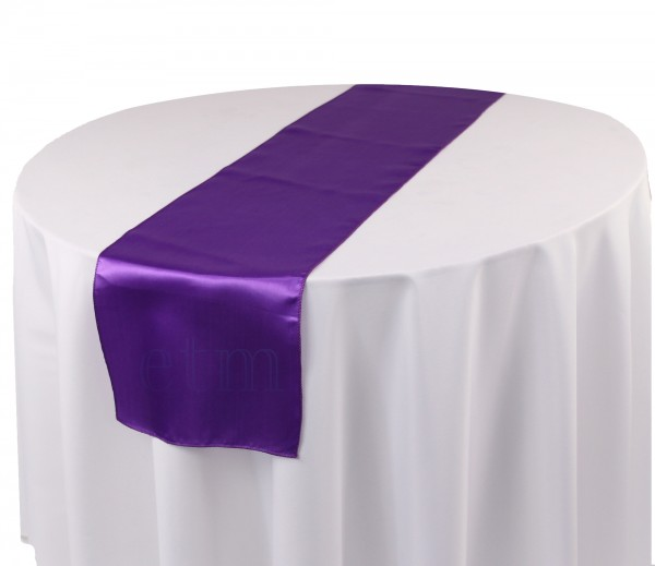 Satin Tischläufer lila violett