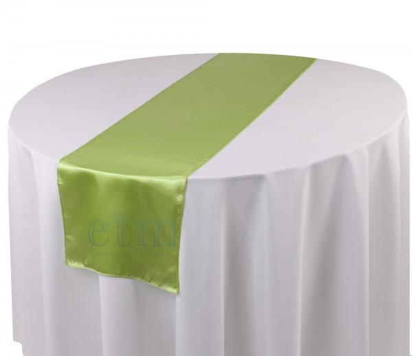 Satin Tischläufer grün