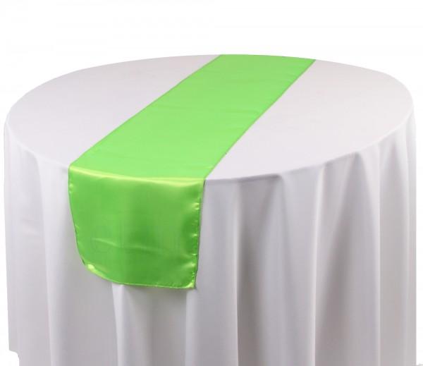 Satin Tischläufer apfelgrün