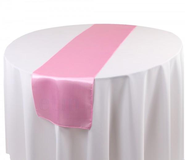 Satin Tischläufer schweinchenrosa