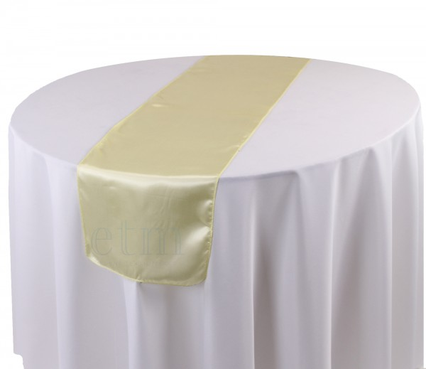 Satin Tischläufer pastellgelb