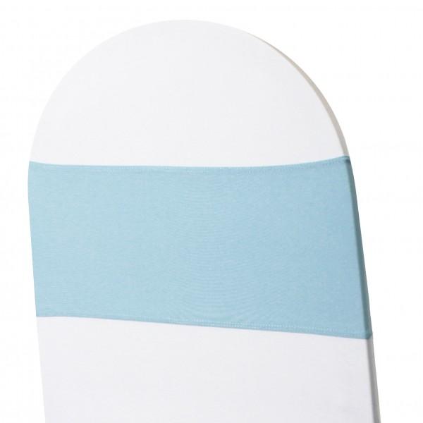 5 x STRETCH Stuhlbänder hellblau