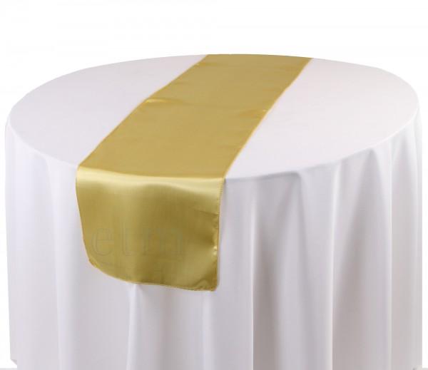 Satin Tischläufer champagner