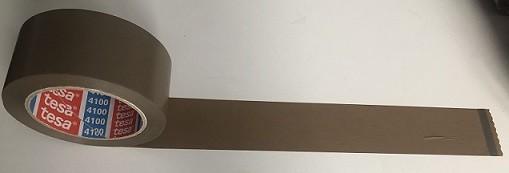 tesapack® 4100 PVC 66 m x 50 mm, braun, Klebeband, Packband verstärkt, geprägt