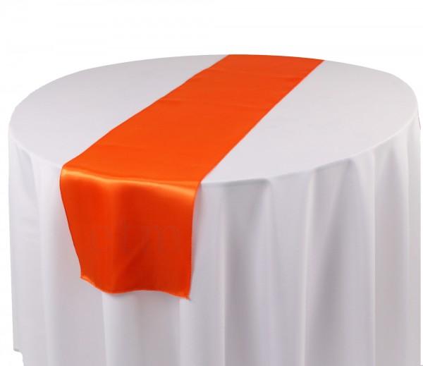 Satin Tischläufer orange