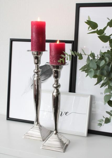 Kerzenhalter MARY 2er-Set silber