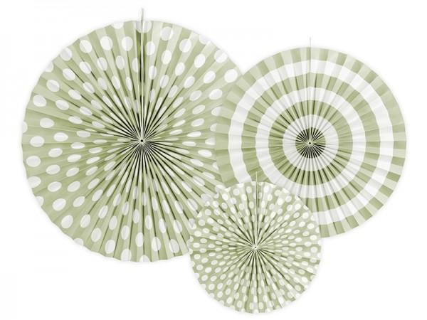 Deko Rossetten 3er-Set olivgrün