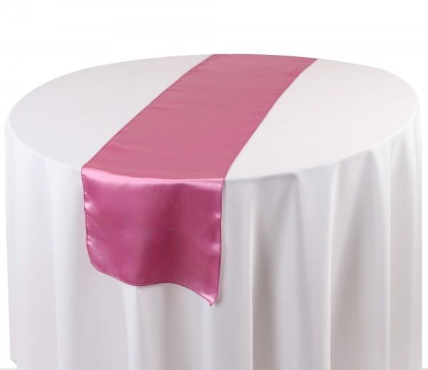 Satin Tischläufer dirty pink