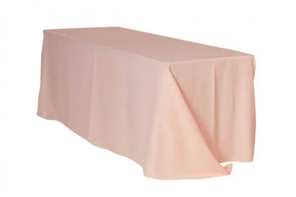 Tischdecke ECKIG 2,40 x 3,40m bodenlang blush puder