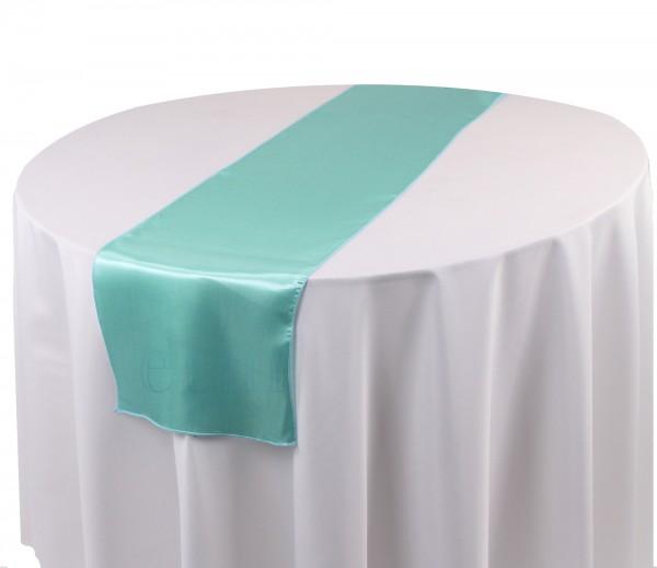 Satin Tischläufer tiffanyblau
