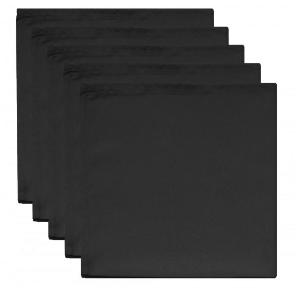 Servietten 5 Stk. schwarz 50 x 50 cm