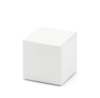 Gastgeschenkboxen Würfelbox weiss Miniboxen - 10 Stück