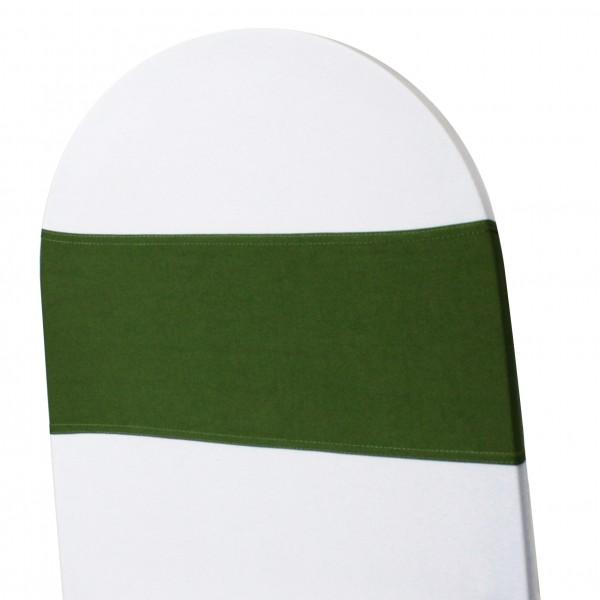 5 x STRETCH Stuhlbänder olivegrün