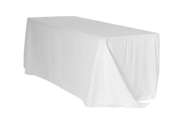 Tischdecke ECKIG 2,40 x 3,40m bodenlang weiß