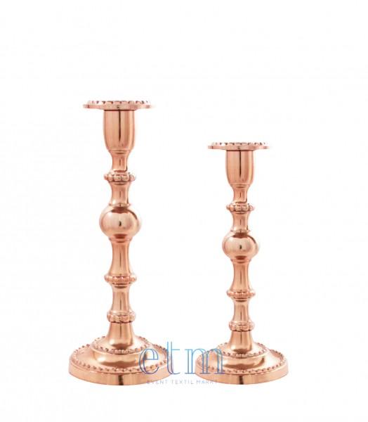 Kerzenhalter LOUIS 2er-Set roségold