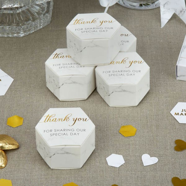 Gastgeschenkboxen Marmor - 10 Stück