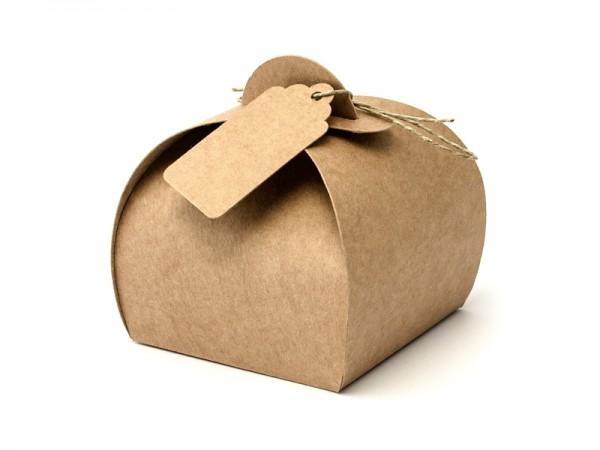 Box Gastgeschenk Vintage Kraftpapier Geschenkboxen - 10 Stück
