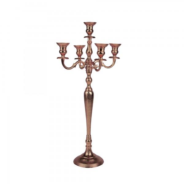 5-Arm Kerzenhalter kupfer 80 cm