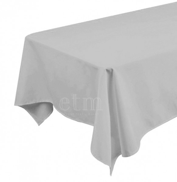 Tischdecke ECKIG 1,30 x 2,30m silber grau