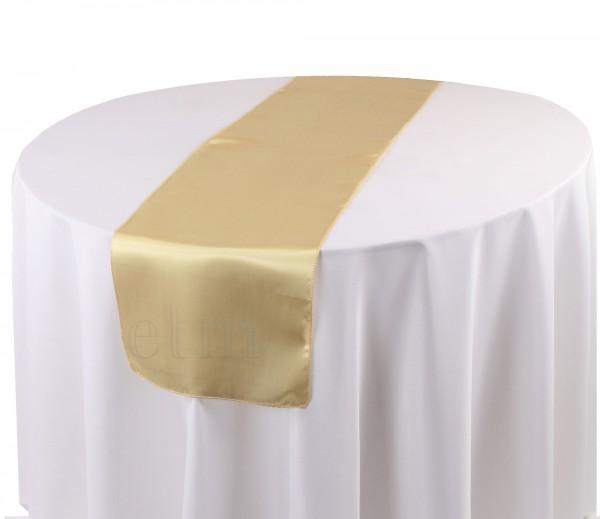 Satin Tischläufer biskuit-beige