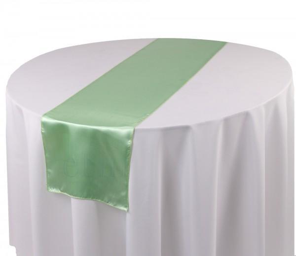 Satin Tischläufer mint