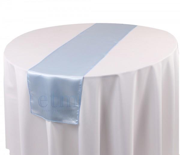 Satin Tischläufer hellblau