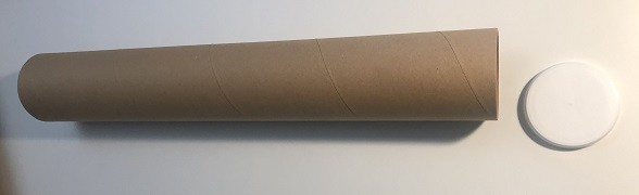 10 Stk. Versandhülse 455 x 60 x 2 mm