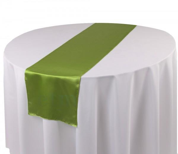 Satin Tischläufer weidengrün