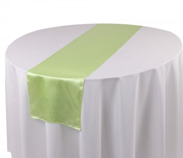 Satin Tischläufer hellgrün