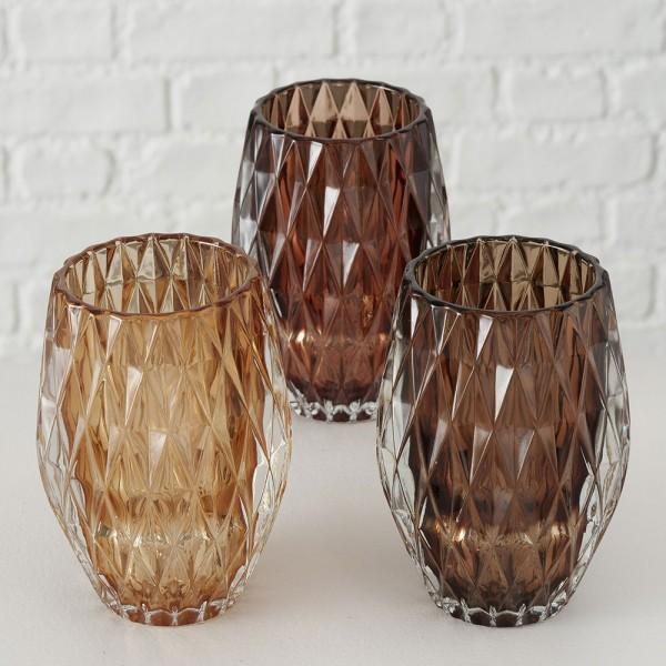 Vasen-Set BIBA, 3-tlg. braun