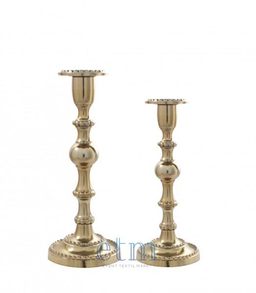 Kerzenhalter LOUIS 2er-Set altgold