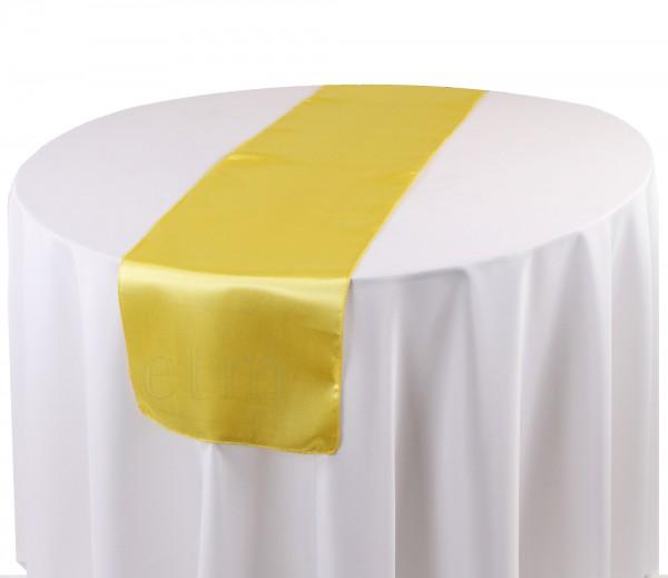 Satin Tischläufer gelb
