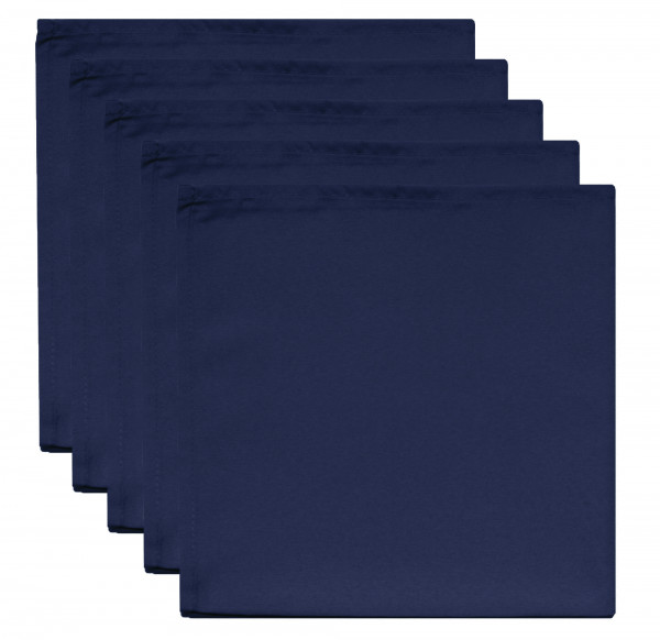 Servietten 5 Stk. dunkelblau 50 x 50 cm