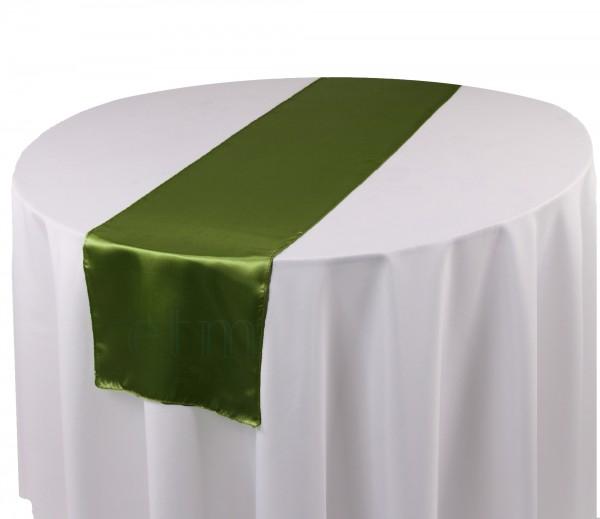Satin Tischläufer olivegrün